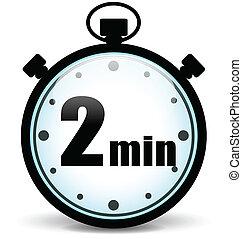 vecteur, minutes, deux, icône