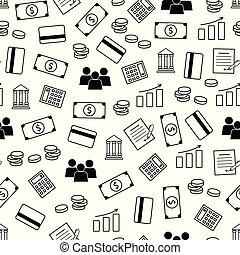 vecteur, modèle, banque, p, seamless, services., finance