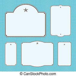 vecteur, modèle, cadre, ensemble, étoile