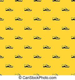 vecteur, modèle, hommes, dentelle, chaussure