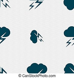 vecteur, modèle, signe., seamless, temps, géométrique, texture., icône