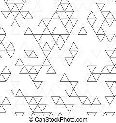 vecteur, modèle, triangles.