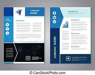 vecteur, moderne, brochure, à, conception flèche, résumé,...
