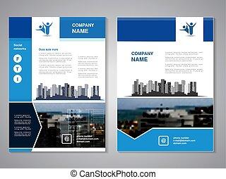 vecteur, moderne, brochure