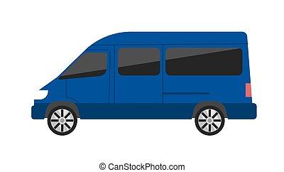 vecteur, moderne, isolé, illustration, minivan