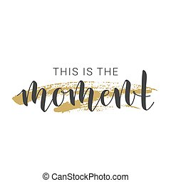 vecteur, moment., ceci, manuscrit, illustration., lettrage