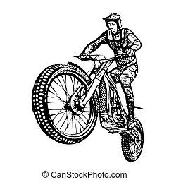 vecteur, motocross, illustration