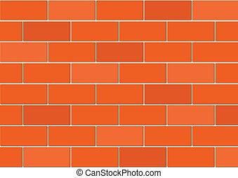 vecteur, mur, brique