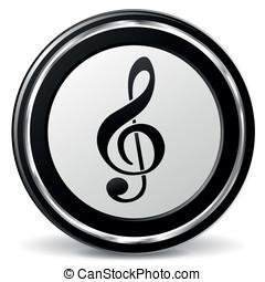 vecteur, musique, icône