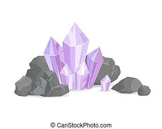 vecteur, naturel, minéraux, illustration, ressources