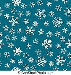 vecteur, neige, fond, seamless