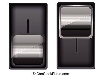 vecteur, noir, commutateurs, illustration