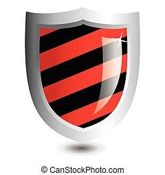 vecteur, noir, illustration, rouges
