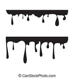 vecteur, noir, isolé, silhouette.