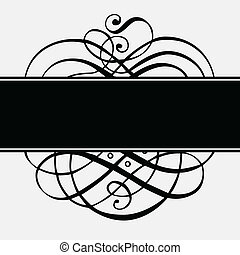 vecteur, noir, ornements, et, cadre