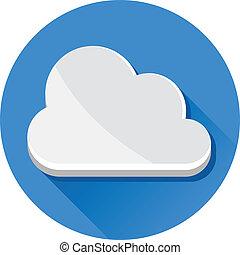 vecteur, nuage, icône