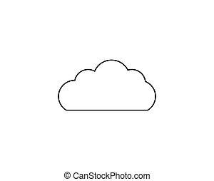 vecteur, nuage, illustration, icône