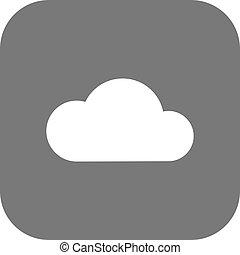 vecteur, nuages, icône