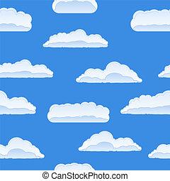 vecteur, nuages, seamless, fond