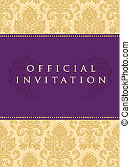 vecteur, officiel, invitation, fond