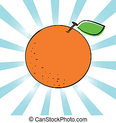 vecteur, orange., illustration