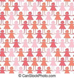 vecteur, orange, tenue, blanc, chaîne, patternin, seamless,...