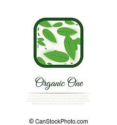 vecteur, organique, étiquette