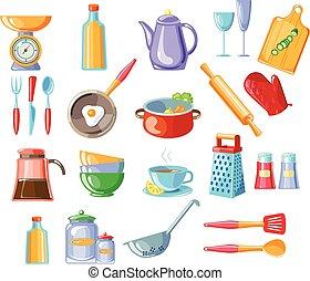 vecteur, Outils,  Illustration, cuisine