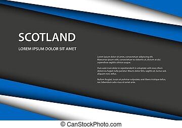 vecteur, overlayed, drapeau, feuilles, espace, moderne, ecosse, gris, gratuite, couleurs, papier, texte, fond, écossais, fait, ton, regard