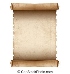 vecteur, papier, vieux, rouleau