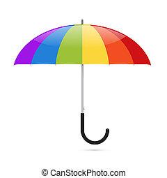 vecteur, parapluie, coloré, illustration