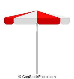 vecteur, parapluie, fond, isoalted