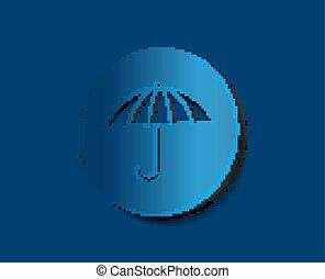 vecteur, parapluie, icône