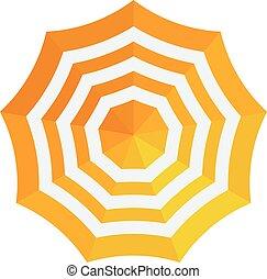 vecteur, parapluie, illustration.