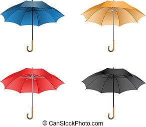 vecteur, parapluie, illustration
