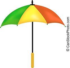 vecteur, parapluie