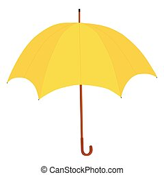 vecteur, parapluie, jaune
