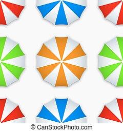 vecteur, parapluie, moderne, coloré, seamless