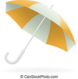vecteur, parapluie, ouvert, illustration