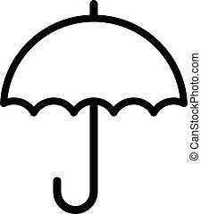 vecteur, parapluie, pluie, icône