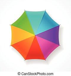 vecteur, parapluie, rainbow.