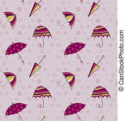 vecteur, parapluie, seamless, fond