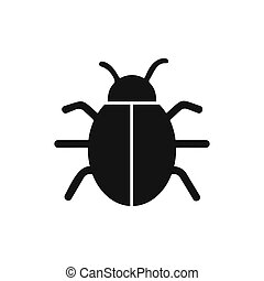 vecteur, parasite, icon., infection, insecte, bogue, ...