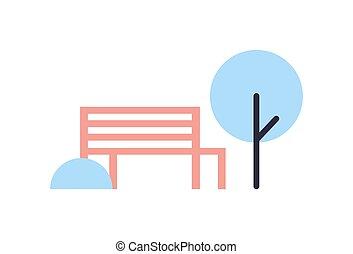vecteur, parc, hiver, illustration, composition