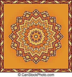 vecteur, pattern., jaune