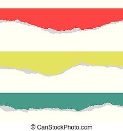 vecteur, pattern., seamless, bords, papier, illustration, déchirure