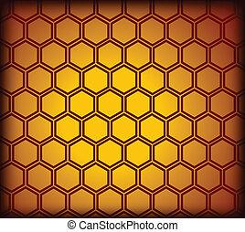 vecteur, pattern., seamless, rayon miel