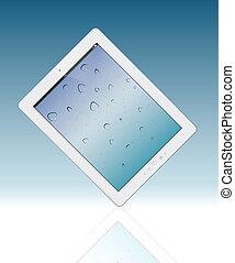 vecteur, pc., tablette, illustration