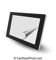 vecteur, pc tablette