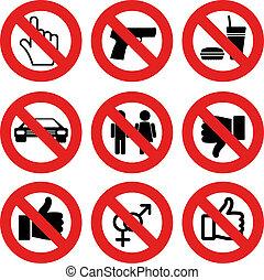 vecteur, permis, non, marques